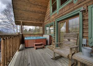 A MOONLIGHT RIDGE #162 1 Bedroom Cabin with Privacy and Beautiful Views, close to Pigeon Forge