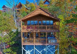 MORNING VIEW #131 Morning View is a two story, one bedroom log cabin with a spectacular view!