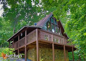 A SECLUDED RETREAT #216 A Secluded Retreat is a private 2 bedroom cabin minutes from Pigeon Forge.