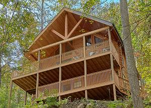 A Tranquility Den #210 Amazing 2 Bedroom Cabin with Jacuzzi & Hot Tub out Light 10 in Pigeon Forge