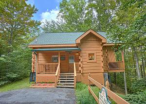 All Tucked Away #114 Private 1 bedroom Smoky Mountain Log Home in Gated Pigeon Forge Community.