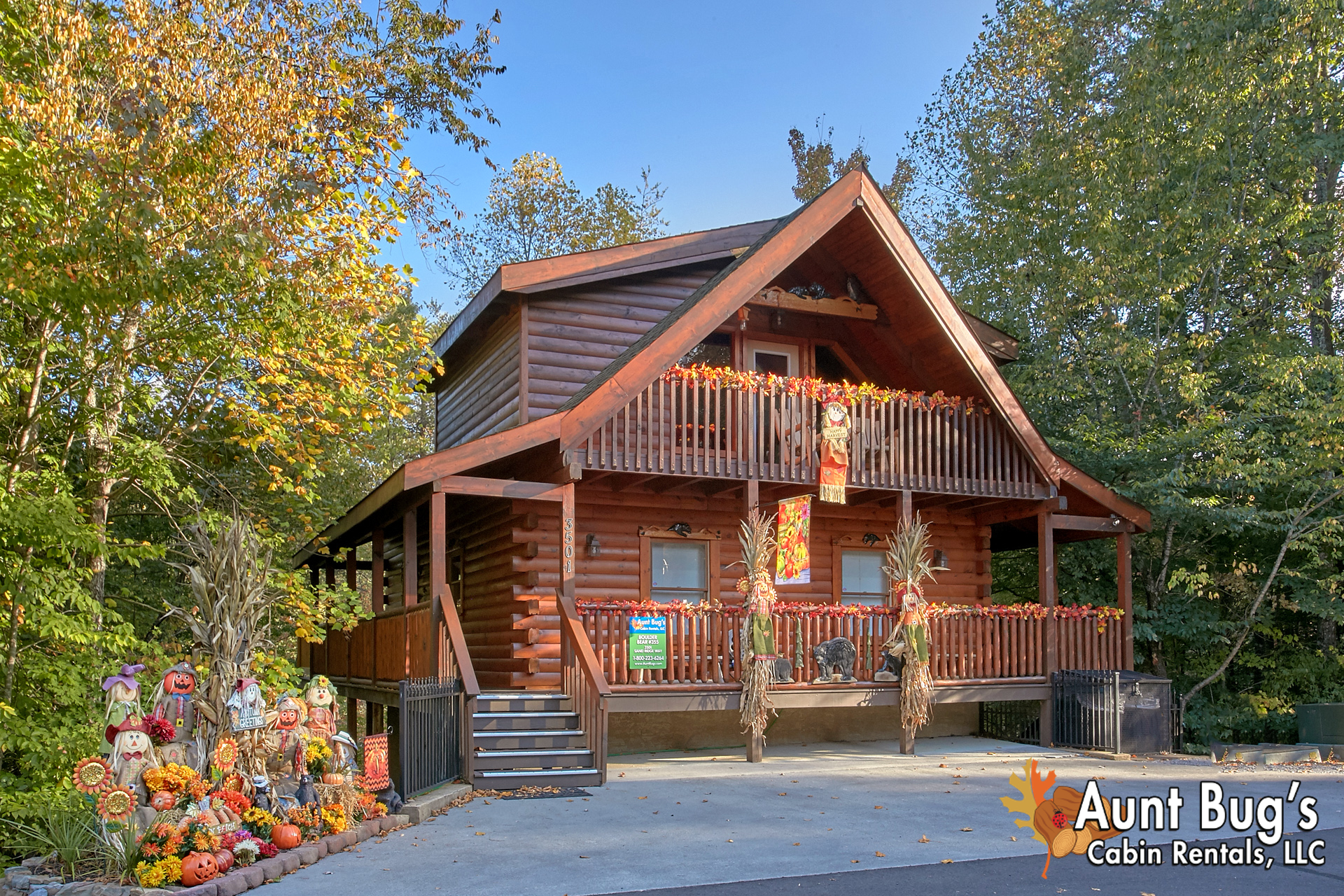 Pigeon forge cabin rental boulder bear lodge 355 3 for Tennessee cabins gatlinburg