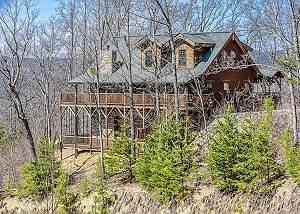 Mystic Ridge #456 4 BR Tennessee Log Cabin with Beautiful views, game room, & seclusion