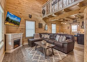 Mountain Life - 496 Brand New Smoky Mountain Cabin Rental with Foosball, Pool Table and Hot Tub