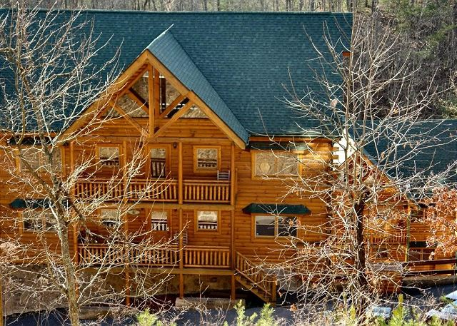 Big bear cinema 5 bed 7 bath cabin acorn cabin rentals for Cabins big bear