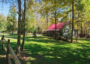 LIVING WATERS - 376 Private Log Cabin on River - Trout Stream Spring Special