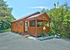 DREAM MAKER #120 Secluded 1 Bedroom Cabin Close to the Parkway in Pigeon Forge and Dollywood