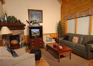 DOLLYS DREAM #284 Dolly's Dream,2br log townhouse in Pigeon Forge TN near Dollywood