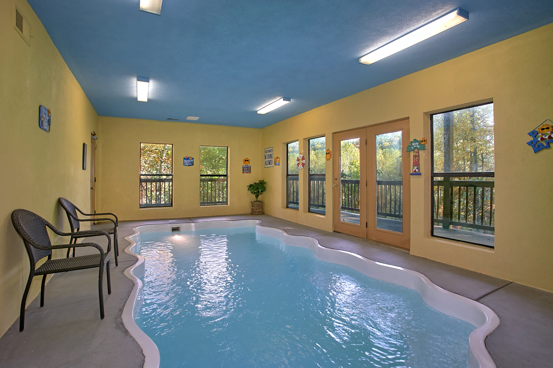 cabin pet pools discount with pool friendly rentals gatlinburg log tennessee cabins private military