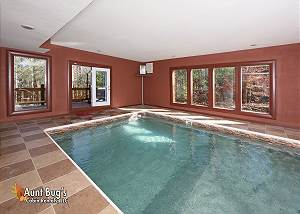 SPLASH N' PLAY #524 5 Bedroom Smoky Mountain Private Indoor Pool Cabin with Theater Room in Cosby