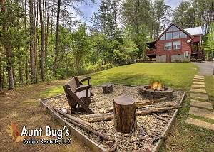 A ROMANTIC SAFARI #163 1 Bedroom Private Cabin,Hot tub,Games,Fire Pit,& 5 miles To Town Pigeon Forge