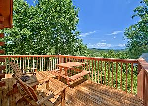TONTO'S TEE PEE 123 Beautiful One Bedroom Wears Valley Log Cabin with Smoky Mountain Views