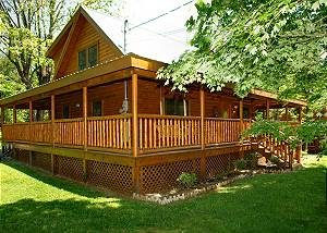 Trout House #350 3 Bedroom Pigeon Forge Cabin Rental with Hot Tub, Rockers and Gas Grill