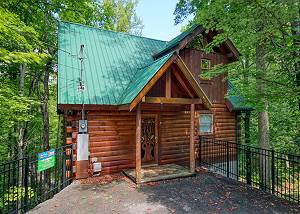 American Treehouse #1708 Secluded 1 bedroom Log Cabin Sky Harbor Resort Pigeon Forge Gatlinburg TN