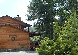 Woodhaven #1741 Large Secluded 2 bedroom 2bath log cabin Smoky Ridge Resort Theater/Game Room