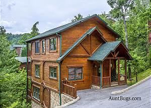 PAPA BEAR'S DEN 241 Papa Bear's Den is a quiet cabin just 2.5 miles from downtown Gatlinburg