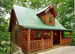 DRAGONFLY DREAMS #1833 1 Bedroom Log Cabin Sky Harbor Resort between Gatlinburg & Pigeon Forge TN