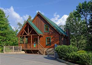 SANCTUARY #149 Amazing One Bedroom Pigeon Forge Resort Cabin with Jacuzzi Tub and Hot Tub