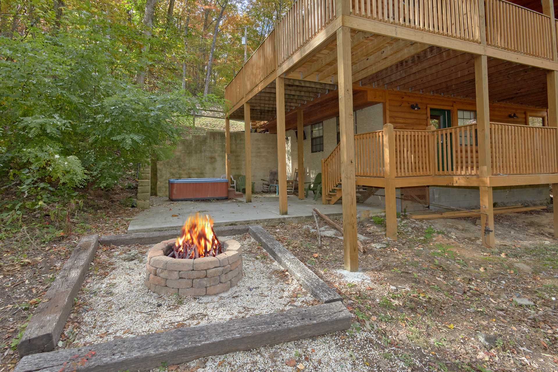 Pigeon Forge Cabin Rental Tranquility Den 210 2 Bedroom