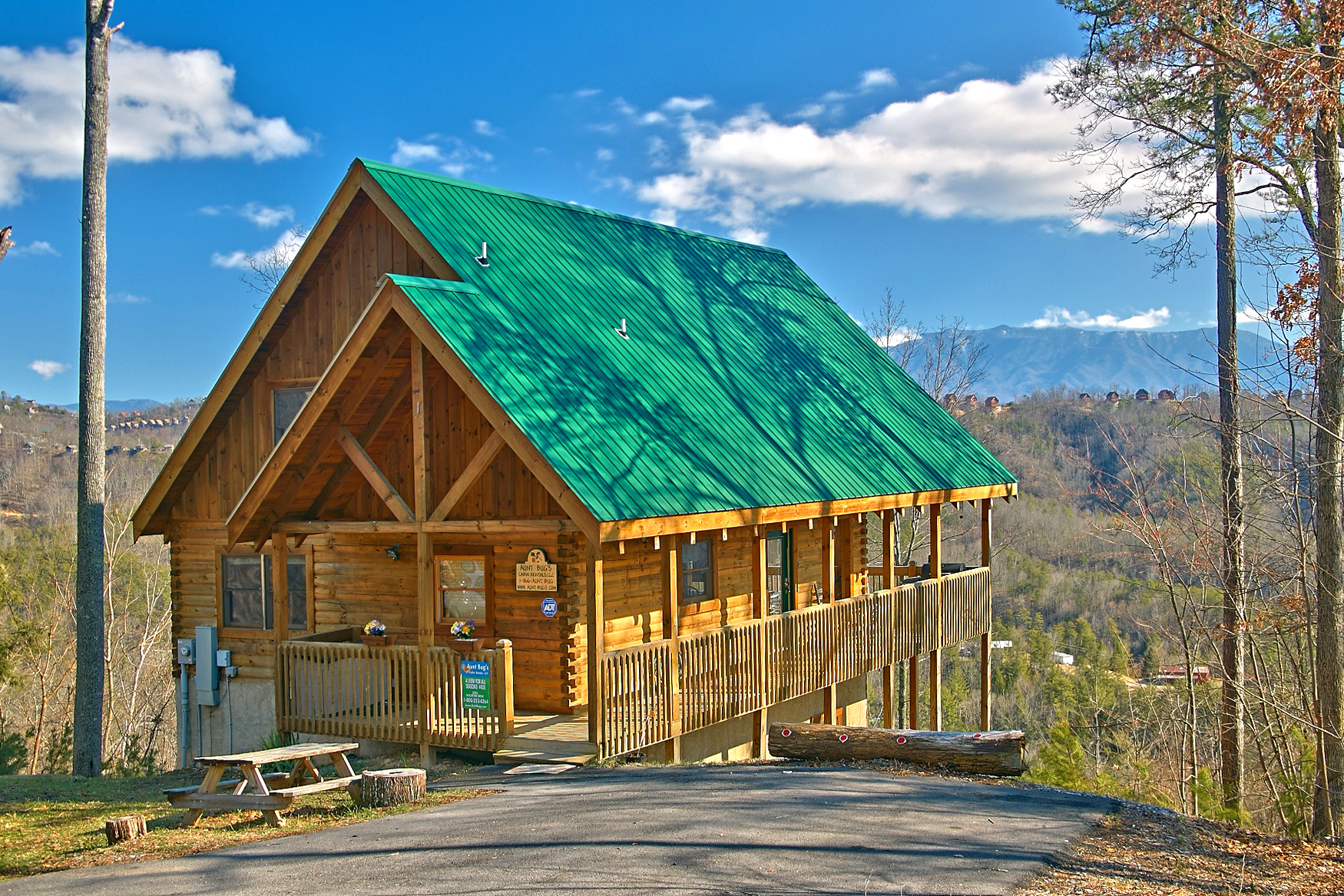 Gatlinburg 1 Bedroom Cabins Sevierville Cabin Rental A View For All Seasons 405 4