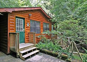 NORTON CREEKSIDE #197 1 bedroom cabin river side Gatlinburg TN walking distance to the parkway