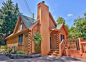 TONTO'S TEE PEE #123 Beautiful One Bedroom Wears Valley Log Cabin with Smoky Mountain Views