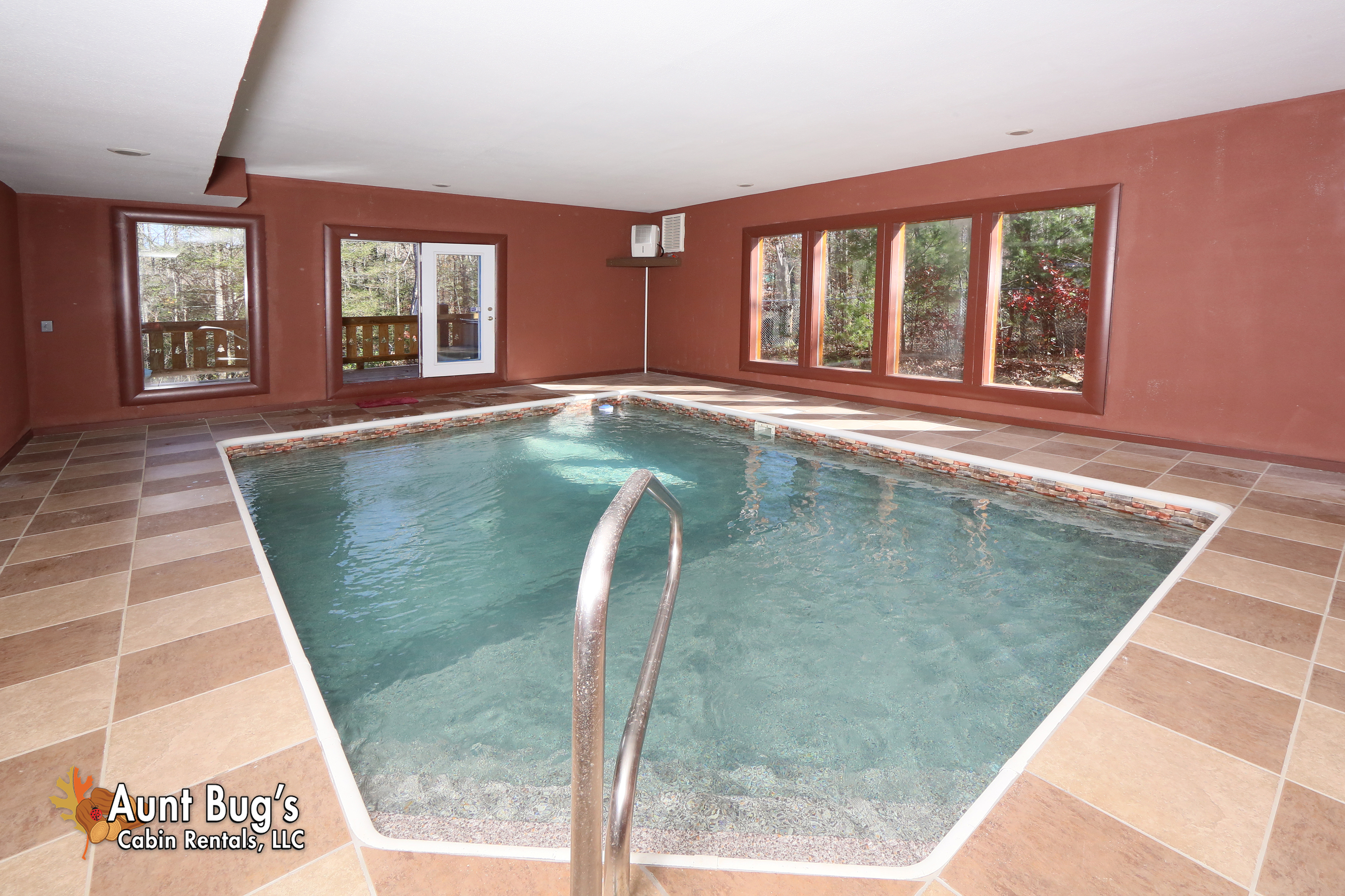 private near luxury pools cabins and chalet fireside forge me pool gatlinburg timber curtain georgia valley tn sevierville theater tennessee of ohio the rentals bedroom tops swimming smoky pigeon with wears indoor cabin room in vacation north