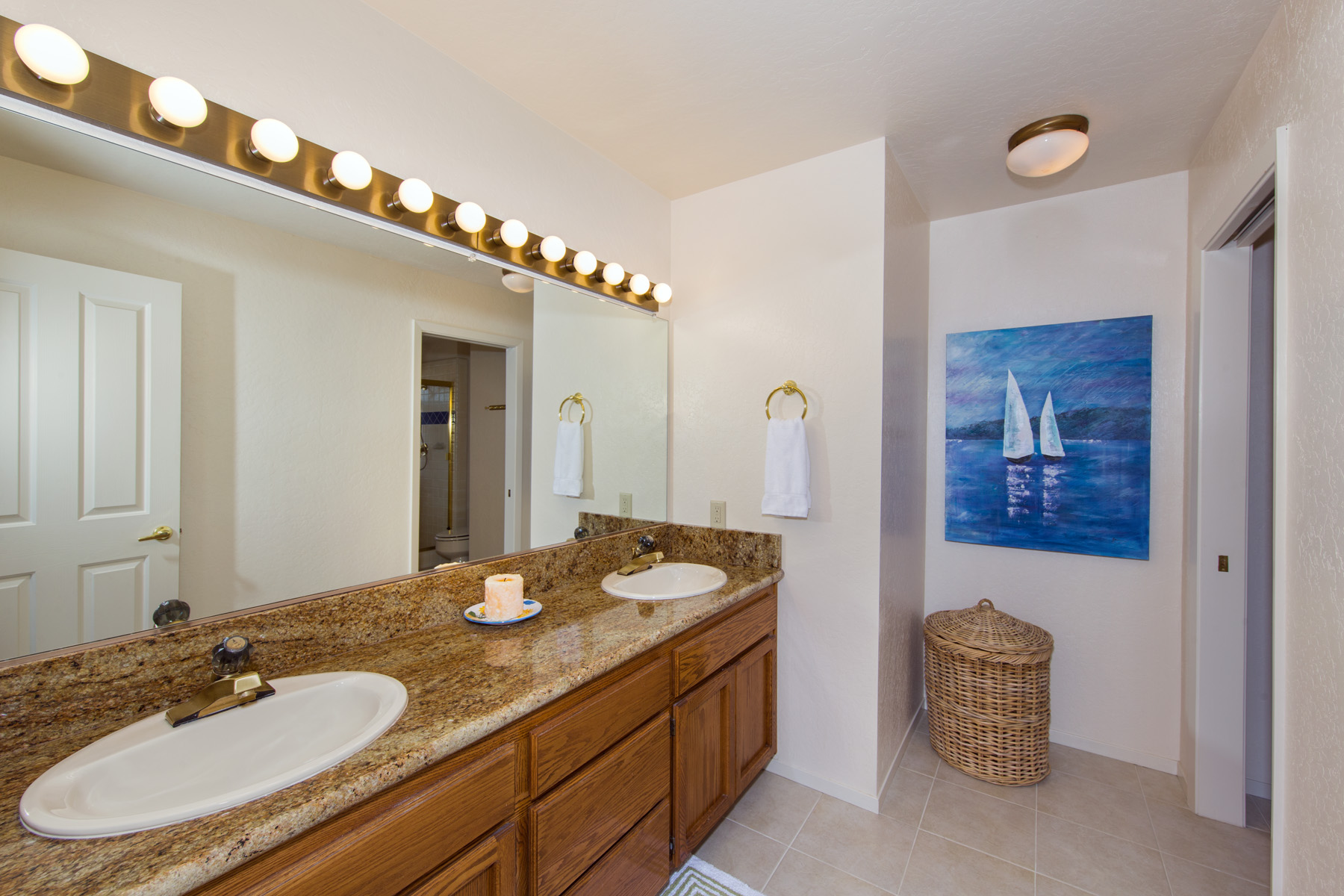Master Bath is open and luxury.