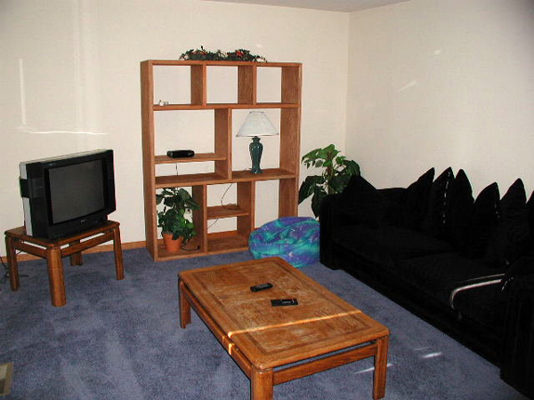 A space for quiet tv viewing or games in the family room