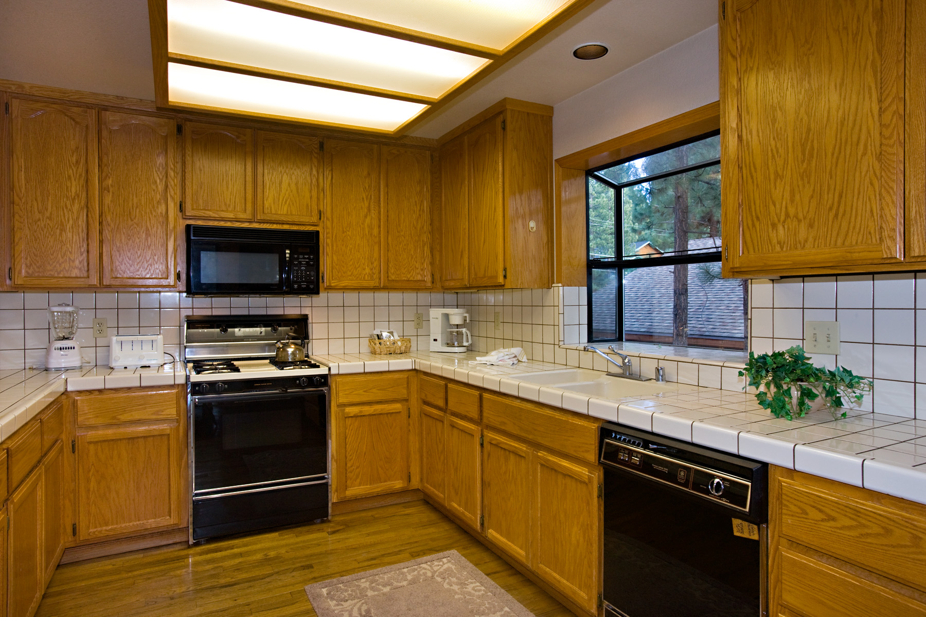 A comfortable, large working kitchen