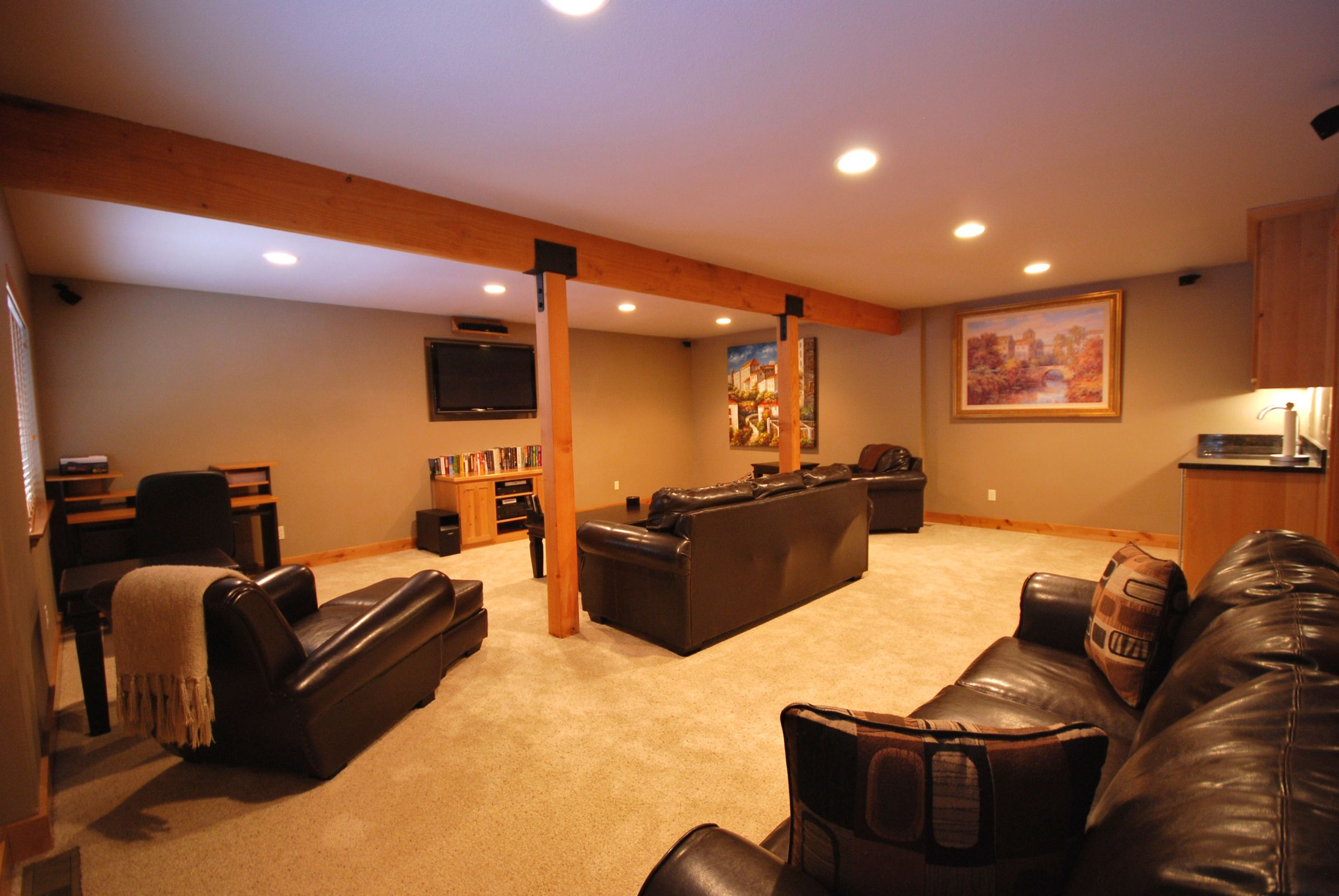 Enjoy this large media room with family & friends.