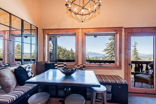 milky way condo's dining room with a view
