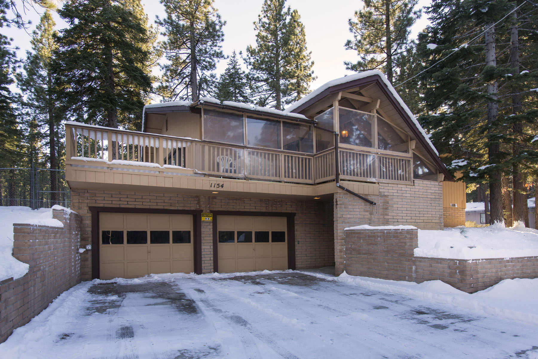 Tahoe, Gold Dust Home Winter Exterior