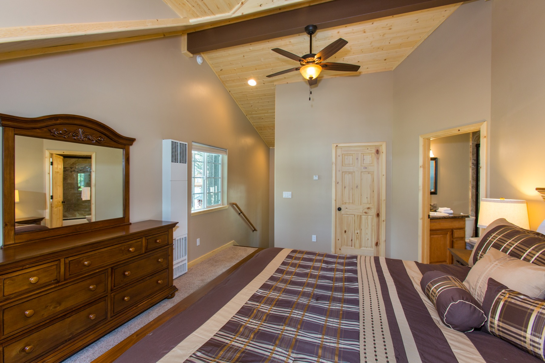 Upstairs master suite available for an added nightly fee of $50.