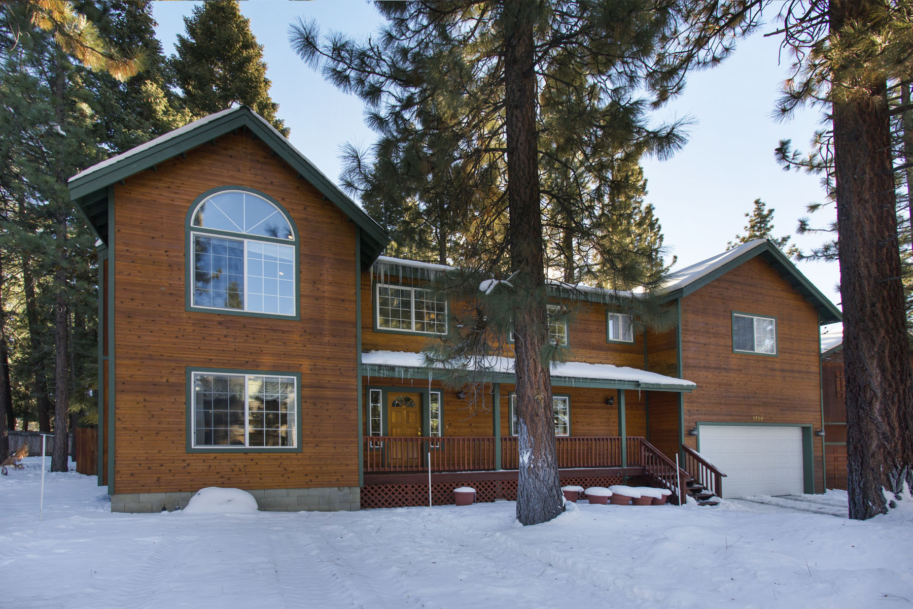 Tahoe, Gentian Home Winter Exterior ...