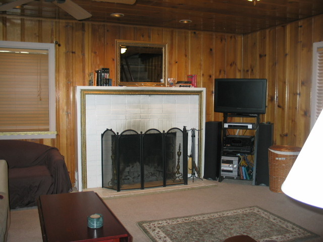 South Lake Tahoe Larch Cabin fireplace