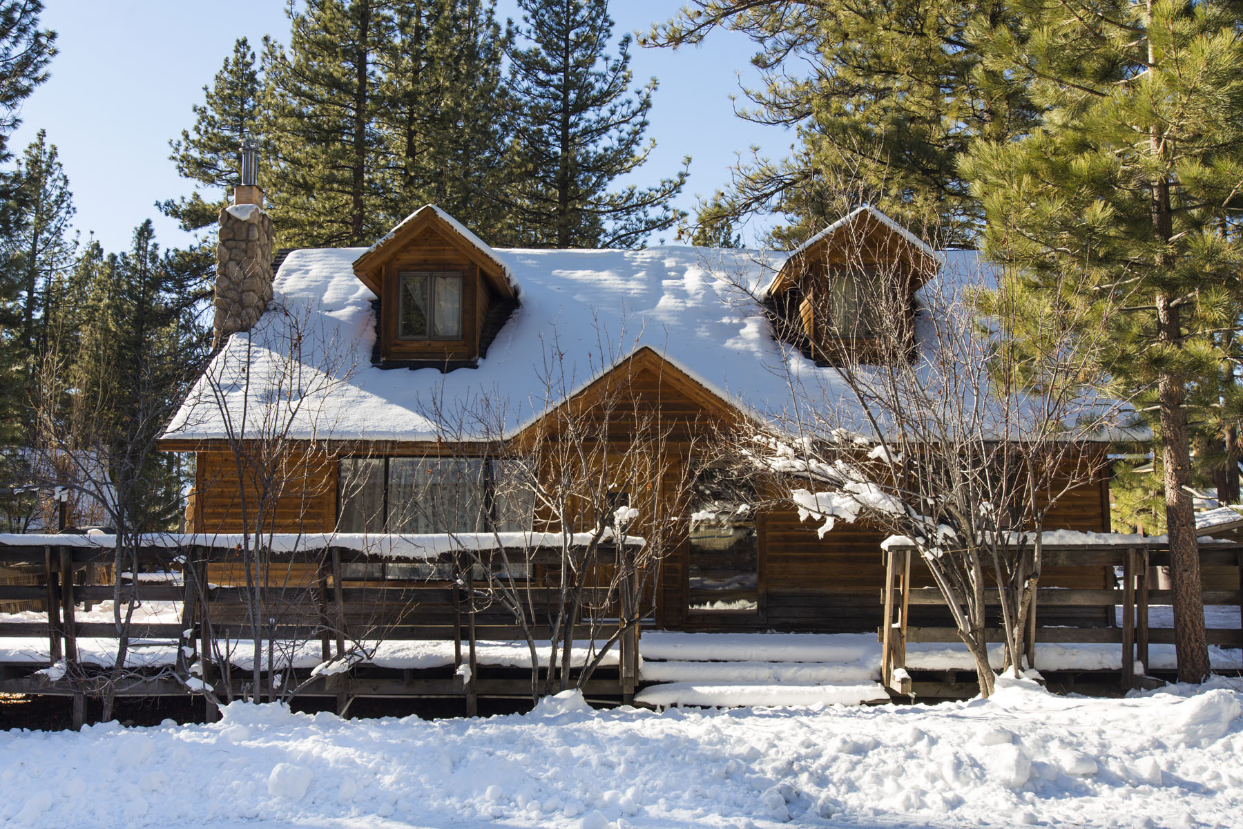 Tahoe, Stanford Cabin Winter Exterior