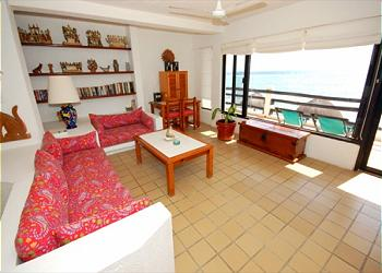 Akumal Condominium rental - Interior Photo - Living Area (open plan living/dining/kitchen)