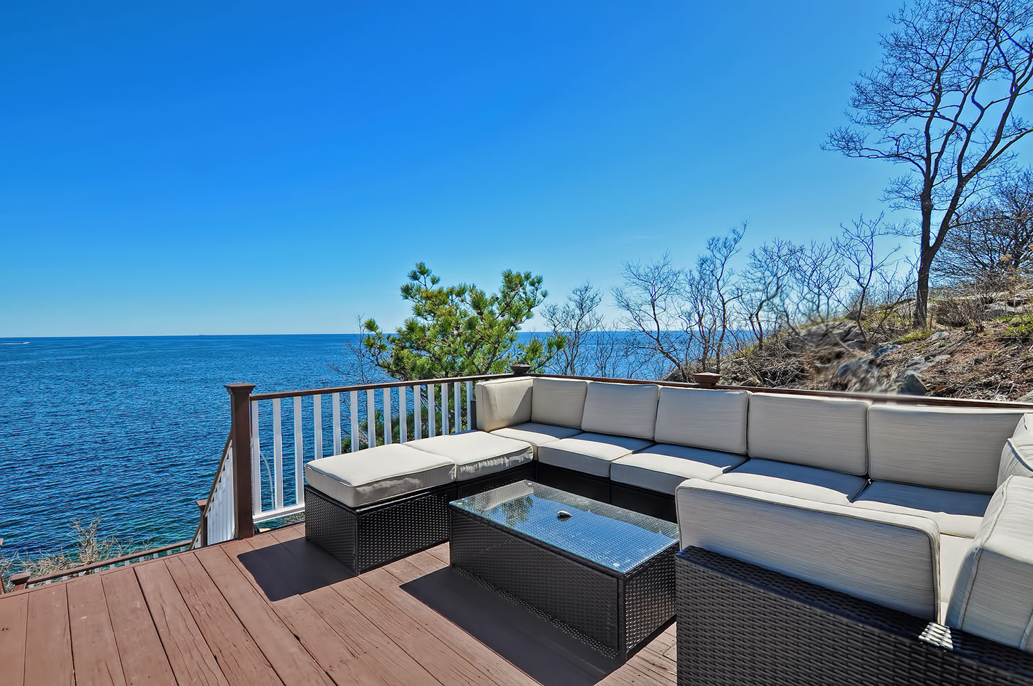 Let the sight and sound of the waves relax you at our vacation rental property Strawberry Cove House.