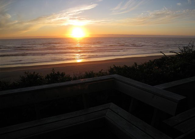Sunsets to enjoy on the Oregon Coast from the deck of the house.