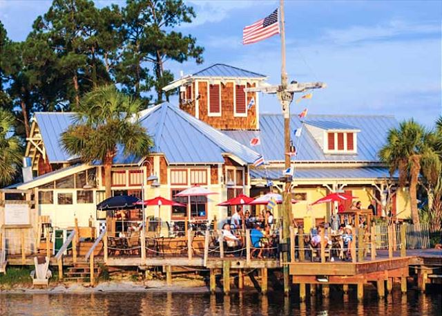 YOU CAN WALK TO THIS HARBOR RESTAURANT AND ENJOY FRESH SEAFOOD