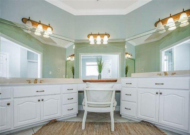 Master bathroom dressing area.