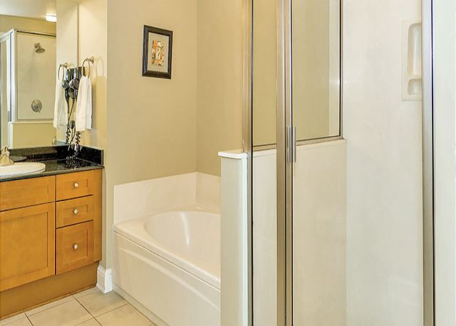 MASTER BATH WITH GARDEN TUB AND SHOWER