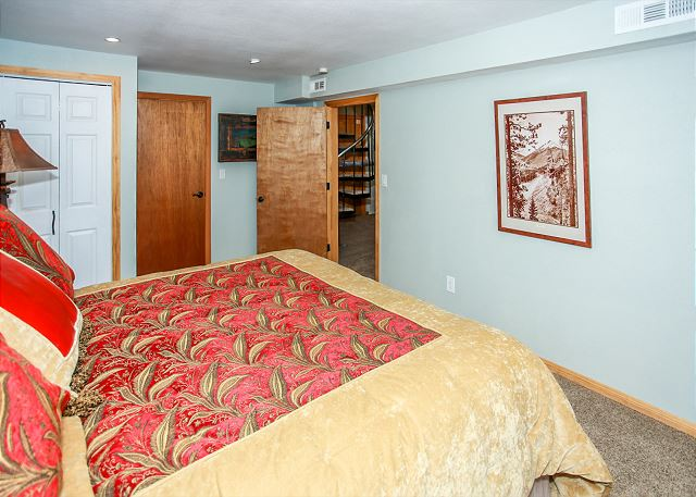 Master Bedroom King Bed located on Bottom floor