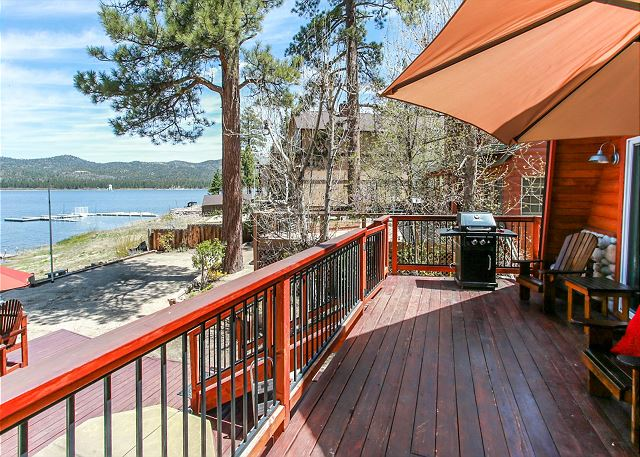 Side view from the back deck