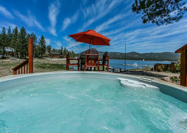 Beautiful view of the lake from the Hot Tub