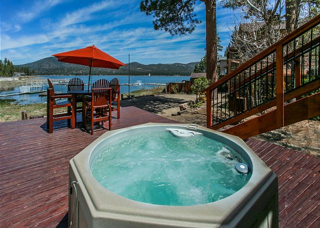 View of Hot Tub and Seating Area on back deck
