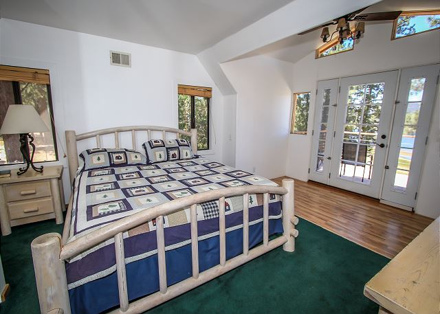 Master Suite with King Bed and Lakefront Deck