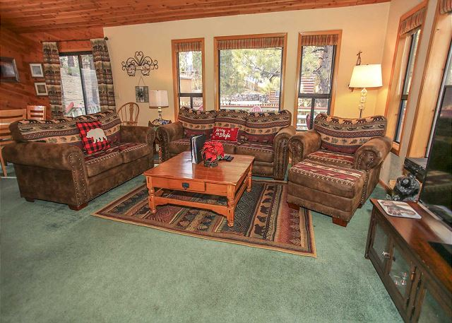 Living Room with New Couches and Sofa Sleeper