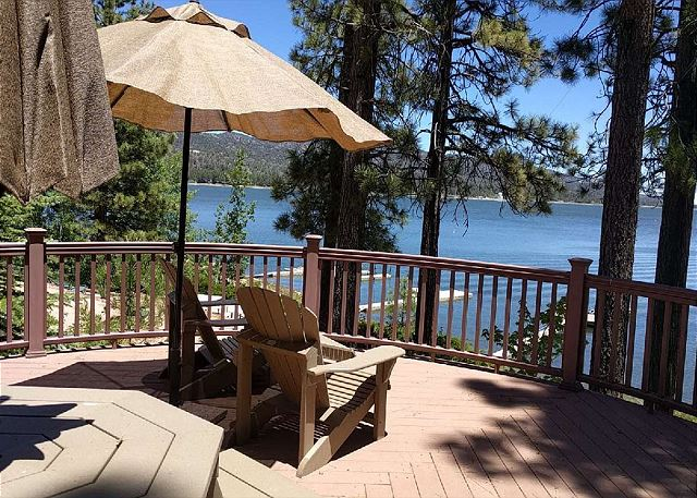 Beautiful Lakefront Deck space